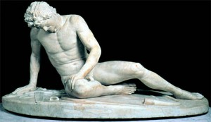 The Dying Gaul, ancient Roman marble. Photo via University of Texas