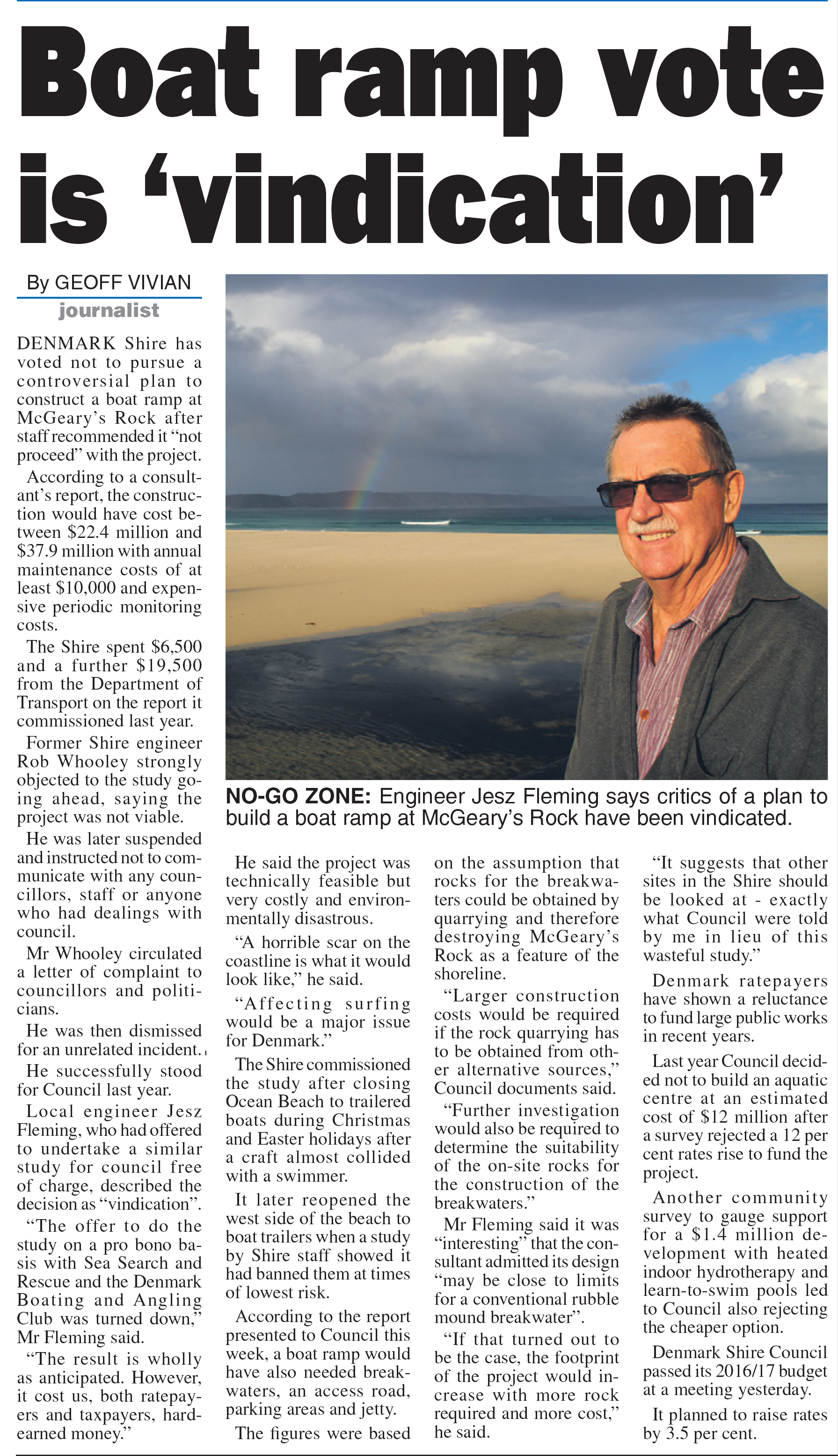 From The Great Southern Weekender, Thursday July 28 2016 p 5