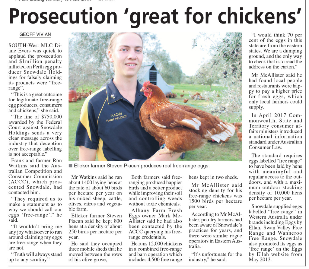 From The Great Southern Weekender, Thursday August 3 2017, p3.